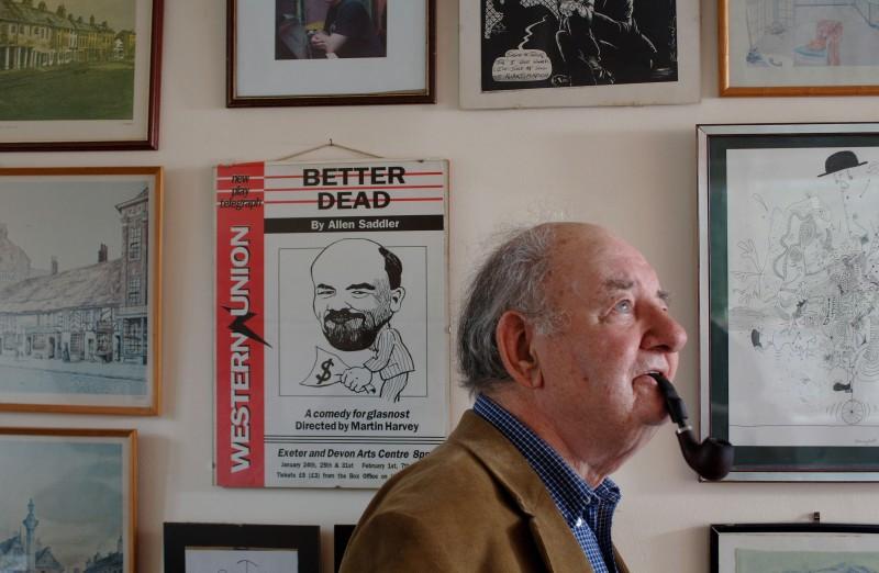 Author Allen Saddler pictured at home in Totnes Devon