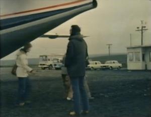 Desmond Bagley's Running Blind - Husavik airport © BBC Scotland