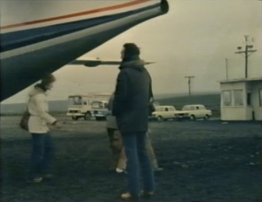 Desmond Bagley Running Blind - Husavik airport © BBC Scotland