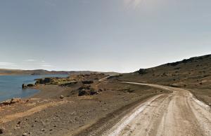 Desmond Bagley Running Blind - Kleifarvatn, Reykjanes peninsular © Google