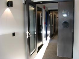 Desmond Bagley Running Blind - Fosshotel Husavik 4th floor entrance - Nov 2015 © The Bagley Brief