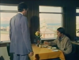 Desmond Bagley Running Blind - Hotel Husavik 4th floor restaurant - June 1978 © BBC Scotland