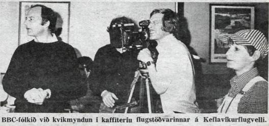 Desmond Bagley Running Blind - BBC Scotland crew at Keflavik Airport Passenger Terminal © 1978 DV ehf.