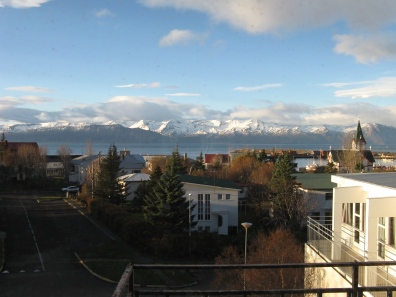 Desmond Bagley Running Blind - Fosshotel Husavik view from 4th floor - Nov 2015 © The Bagley Brief