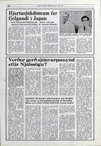 Interview with Ian Rodger in Icelandic media article from Morgunbladid 8th May 1973.
