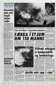 Desmond Bagley Icelandic media article from Visir 27th March 1973.