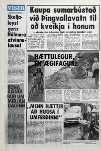 Desmond Bagley Icelandic media article from Visir 16th June 1973.