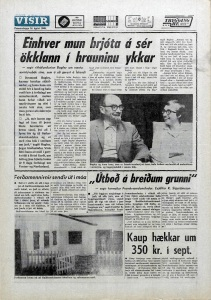 Desmond Bagley Icelandic media article from Visir 14th August 1969.