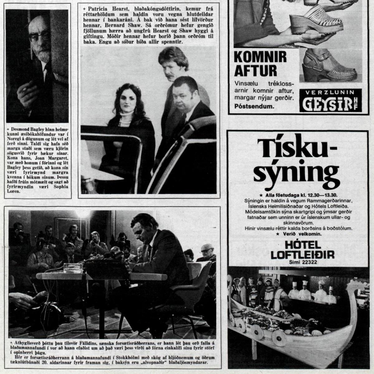 Desmond Bagley Icelandic media article from Morgunbladid 6th July 1978.