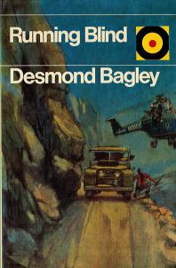 Desmond Bagley Running Blind - UK Hutchinson & Co Ltd Bulls-Eye PB Imp. 1975