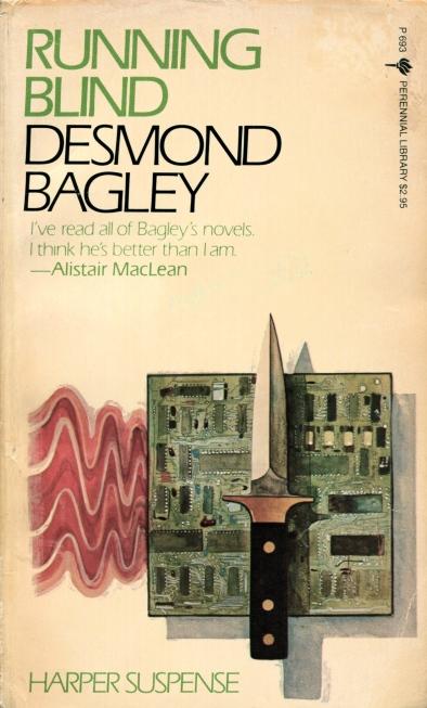 Desmond Bagley Running Blind - USA Perennial Library PB Imp. 1984