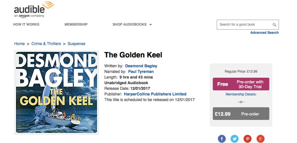 Desmond Bagley - The Golden Keel - Audio Book