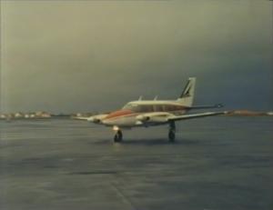 Desmond Bagley Running Blind TF-EPP Piper PA-31 navajo © BBC Scotland