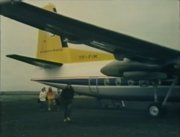 Desmond Bagley Running Blind TF-FIM Fokker F27-200 friendship © BBC Scotland