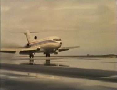 Desmond Bagley Running Blind TF-FLG Boeing 727-185C © BBC Scotland