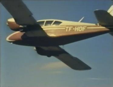 Desmond Bagley Running Blind TF-HOF Piper PA-23-160 apache © BBC Scotland