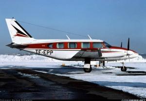 Desmond Bagley Running Blind TF-EPP Piper PA-31 navajo © Baldur Sveinsson
