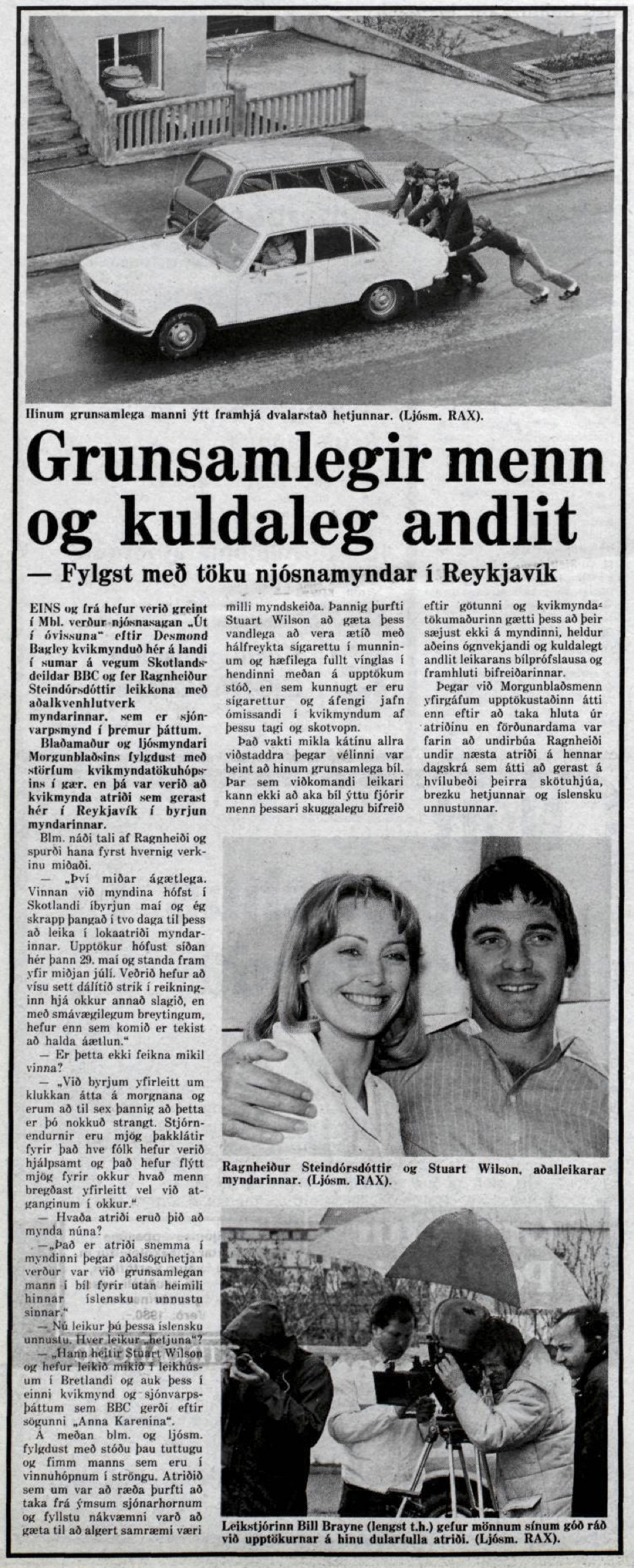 Desmond Bagley's Running Blind Icelandic media article from Visir 10th June 1978.