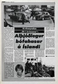 Desmond Bagley Running Blind Icelandic media article from Visir 7th October 1978.