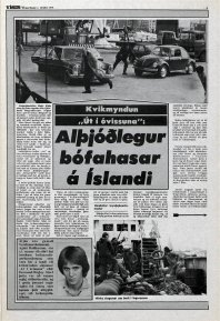 Desmond Bagley Running Blind Icelandic media article from Visir 7th October 1978.