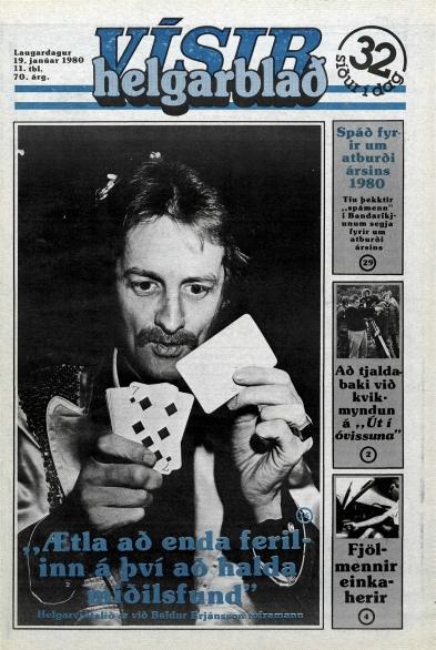 Desmond Bagley Running Blind Icelandic media article from Visir 19th January 1980.