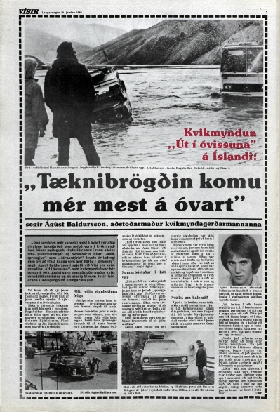 Desmond Bagley Running Blind Icelandic media article from Visir 19th January 1980.