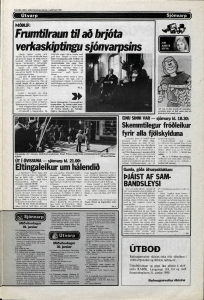 Desmond Bagley Running Blind Icelandic media article from Dagbladid 30th January 1980.