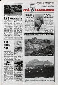 Desmond Bagley Running Blind Icelandic media article from Thodviljinn 23rd January 1980.