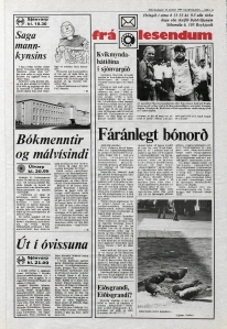 Desmond Bagley Running Blind Icelandic media article from Thodviljinn 30th January 1980.
