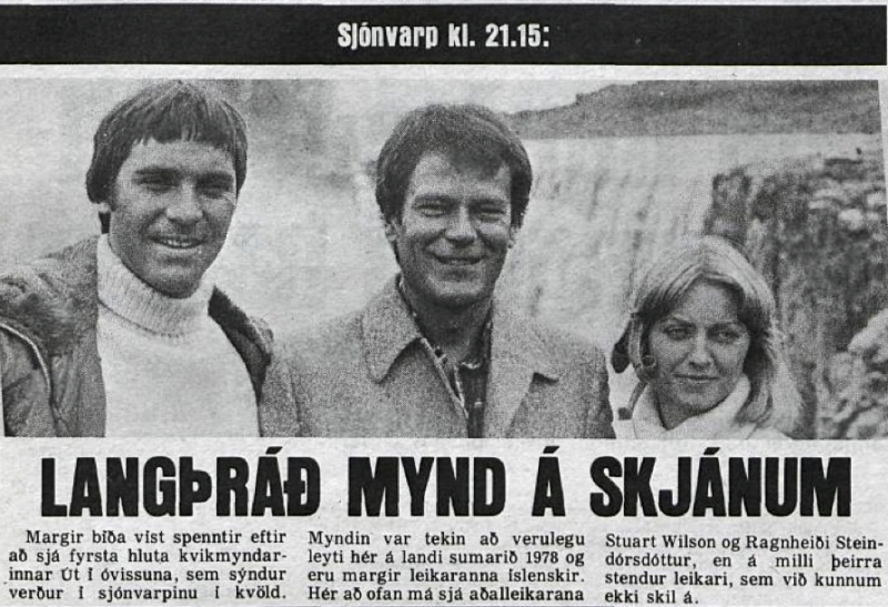 Desmond Bagley Running Blind Icelandic media article from Visir 23rd January 1980.
