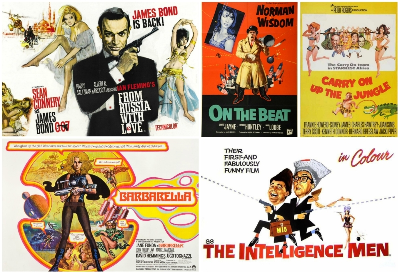 Renato Fratini - Cinema poster collage: © Paramount, © Rank Group, © United Artists.