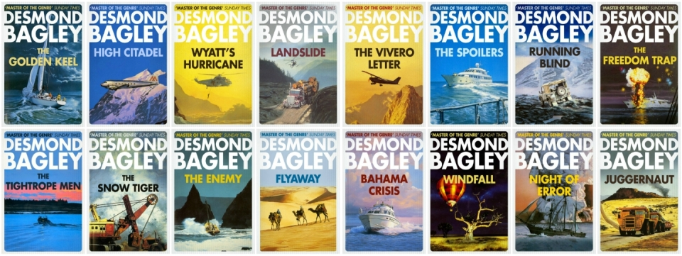 Desmond Bagley - HarperCollins 2017 Crime Club Imprint re-issue cover art collage © HarperCollins Publishers Ltd.