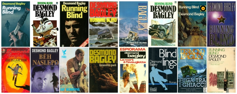 Desmond Bagley - Running Blind cover art collage © HarperCollins Publishers Ltd.