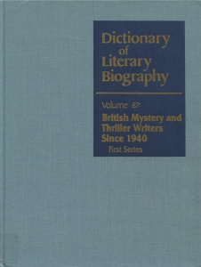 The Dictionary Of Literary Biography © Gale Research Inc.