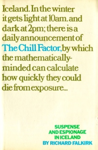 The Chill Factor - Richard Falkirk. Jacket design by David November © Penguin Random House Company.
