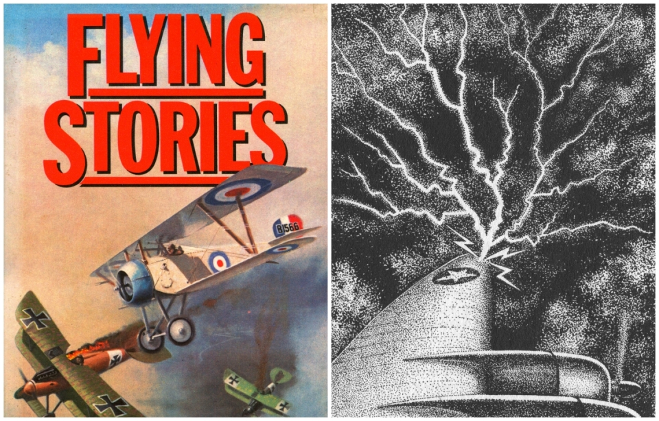 Flying Stories - Hayden McAllister (Ed.) © Octopus Books Limited / Trevor Newton. The Eye of the Hurricane - Illustration by Trevor Newton.