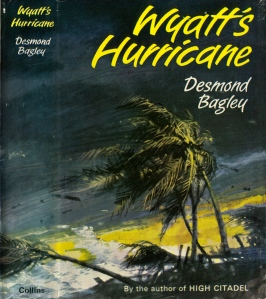 Desmond Bagley - Wyatt's Hurricane 1966 - Cover artist: Pino Dell'Orco © HarperCollins Publishers.