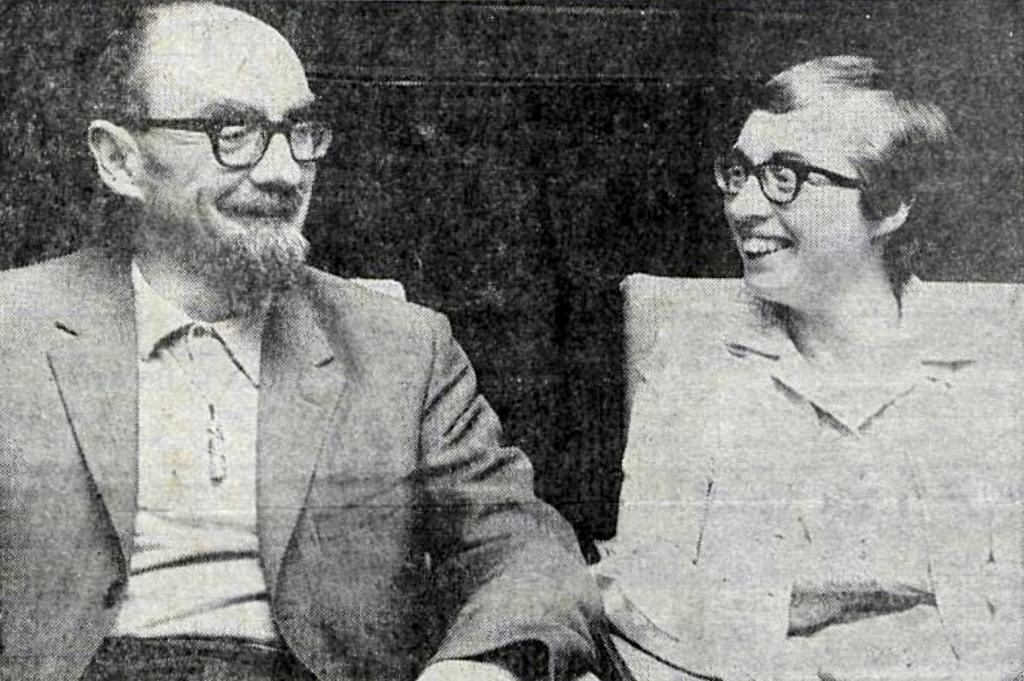 Desmond & Joan Bagley pictured together in Reykjavík, Iceland in August 1969. Image © & courtesy DV ehf.