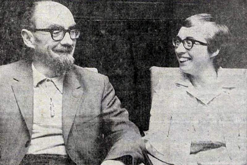 Desmond & Joan Bagley pictured together in Reykjavík, Iceland in August 1969. Image © & courtesy DV ehf.