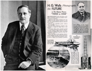 H.G.Wells an inspiration for the author Desmond Bagley © Wikimedia Commons.