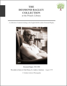 The Desmond Bagley Collection at the Priaulx Library, Candie House, Candie Gardens, St. Peter Port, Guernsey. © The Bagley Brief.