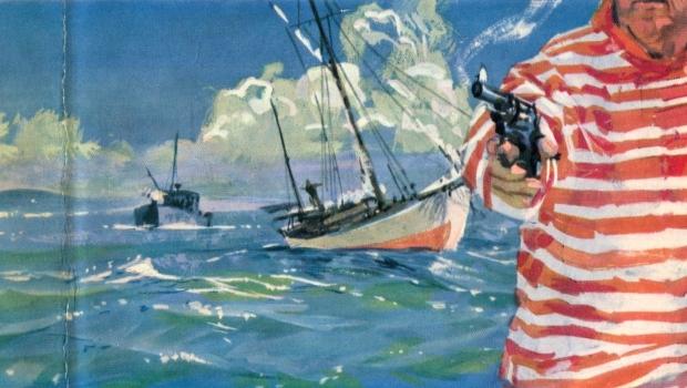 Desmond Bagley - The Golden Keel - 1963 - Cover artist: Renato Fratini © HarperCollins Publishers.