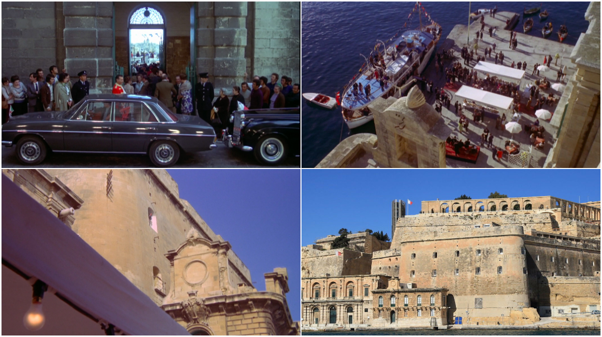 The Mackintosh Man - Old Custom House and Lascari Fort Malta © Warner Bros 1973 & WikiImages.