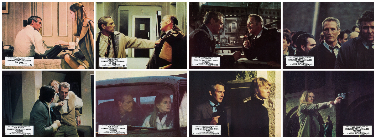 The Mackintosh Man - Lobby cards - An adaptation of Desmond Bagley's The Freedom Trap © Warner Bros 1973.