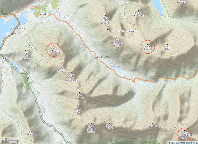 beinn-fhada-sgurr-mor-sgurr-dearg-kintail-copyright-open-street-map