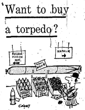 Desmond Bagley - The Spoilers 'Want to buy a torpedo?' Daily Express 30th July 1969 © Northern and Shell Media Publications.