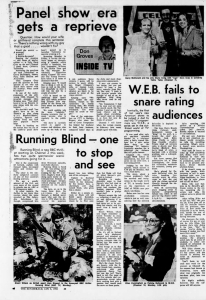 Desmond Bagley - Running Blind - The Sydney Morning Herald (Sun-Herald) Australia (1980). 'Running Blind - one to stop and see' (6th January 1980 p 46) © The Sydney Morning Herald.
