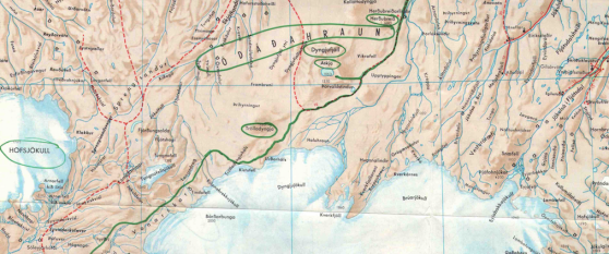 Desmond Bagley's Running Blind route map © HarperCollins Publishers.