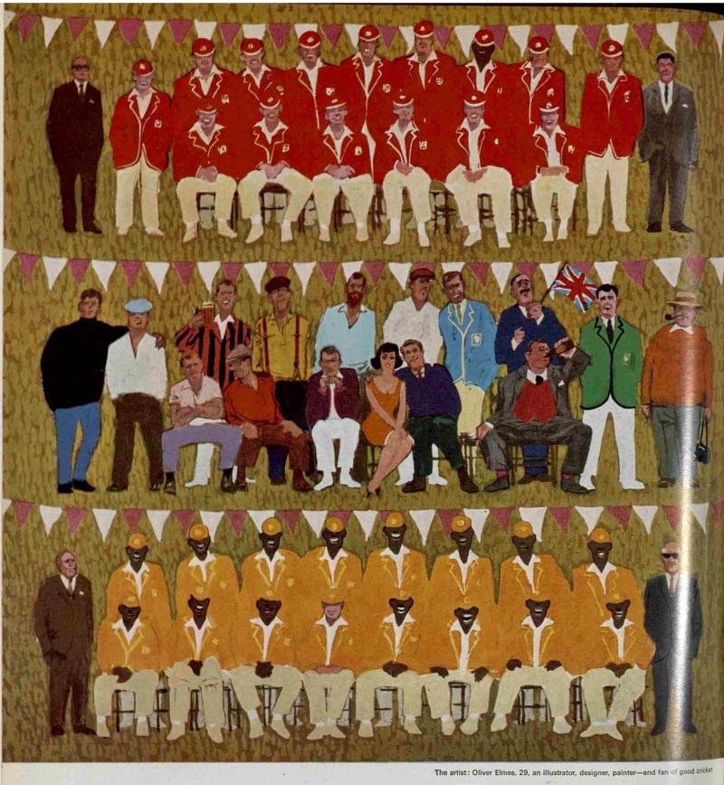 The 78th Scarborough Cricket Festival Artwork - Oliver Elmes - The Tatler 26 August 1964.