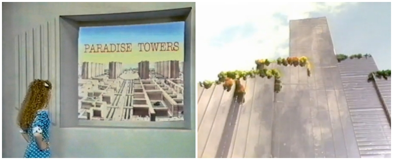 Doctor Who - Paradise Towers - BBC Graphic desiugn by Oliver Elmes © BBC Worldwide 1987.
